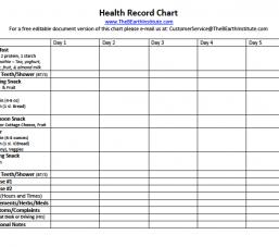 Health Record Chart