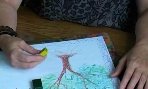 Block Crayon Drawing