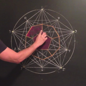 Geometric Chalk Drawing Tutorial: Dodecahedron