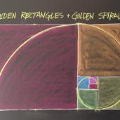 Geometric Chalk Drawing: Golden Rectangles